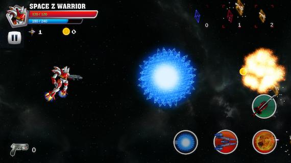 robot warrior fighting